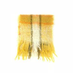 Vintage 1970s retro Irish mohair tartan wool scarf